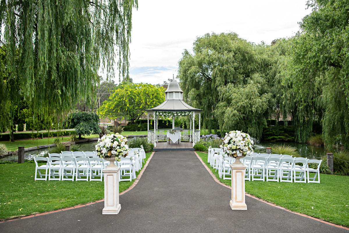 Ballara Receptions - Melbourne Wedding Gazebo Ceremony