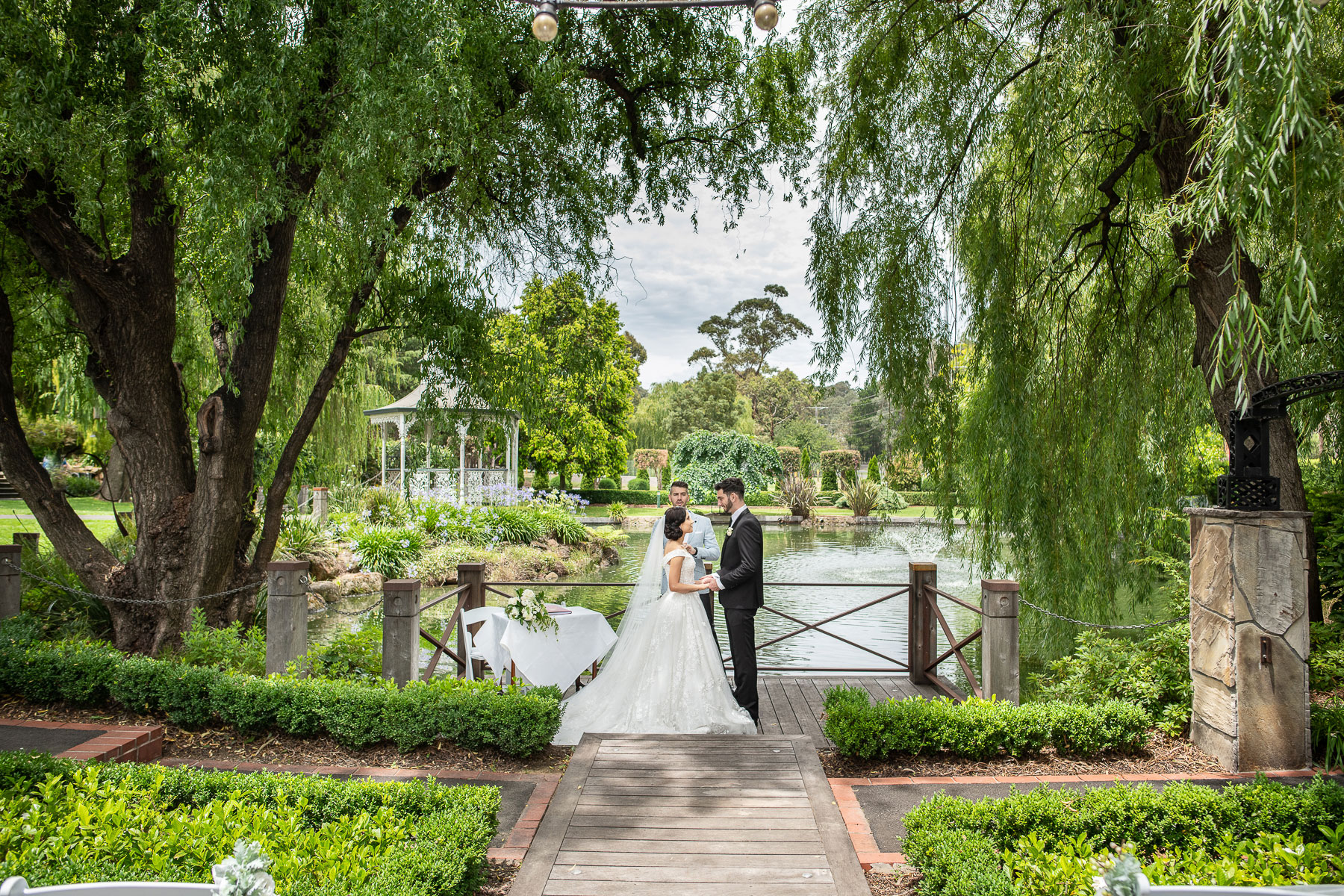Ballara Receptions - Melbourne Wedding Lakeside Jetty Ceremony