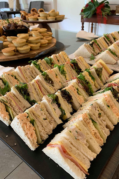 Ballara High Tea Wedding Menu