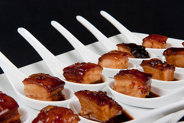 Ballara Receptions - Cocktail Wedding Packages - Pork Belly Spoons