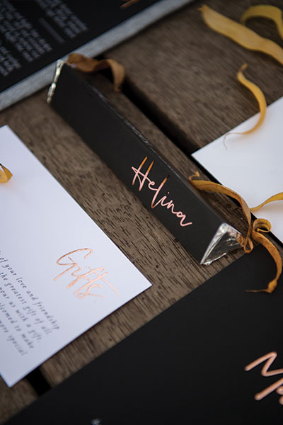 Ballara Wedding Venue - Wedding Bonbonniere & Placecard