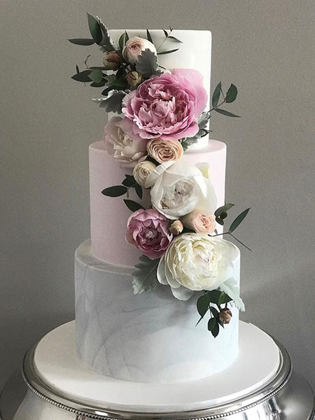 Ballara Wedding Cake Tips - 3 tiered marble cake