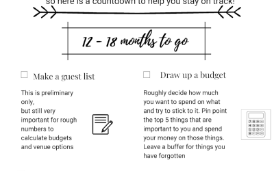 The Ultimate Wedding Planning Checklist